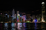 Skyline of the Hong Kong Island skyline. So beautiful and colorful (and this is only part of it)!