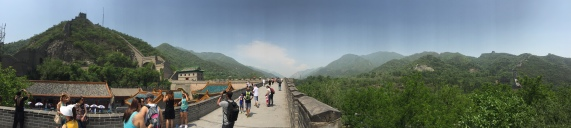 Panoramic of the Great Wall of China