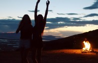 Watching the sunset from the mountains was definitely a highlight of my time in Utah.