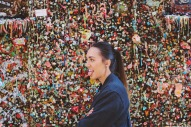 Having some fun at the Gum Wall!