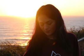 My beautiful sister, Alex, enjoying the sunset at Cape of Disappointment, Washington.